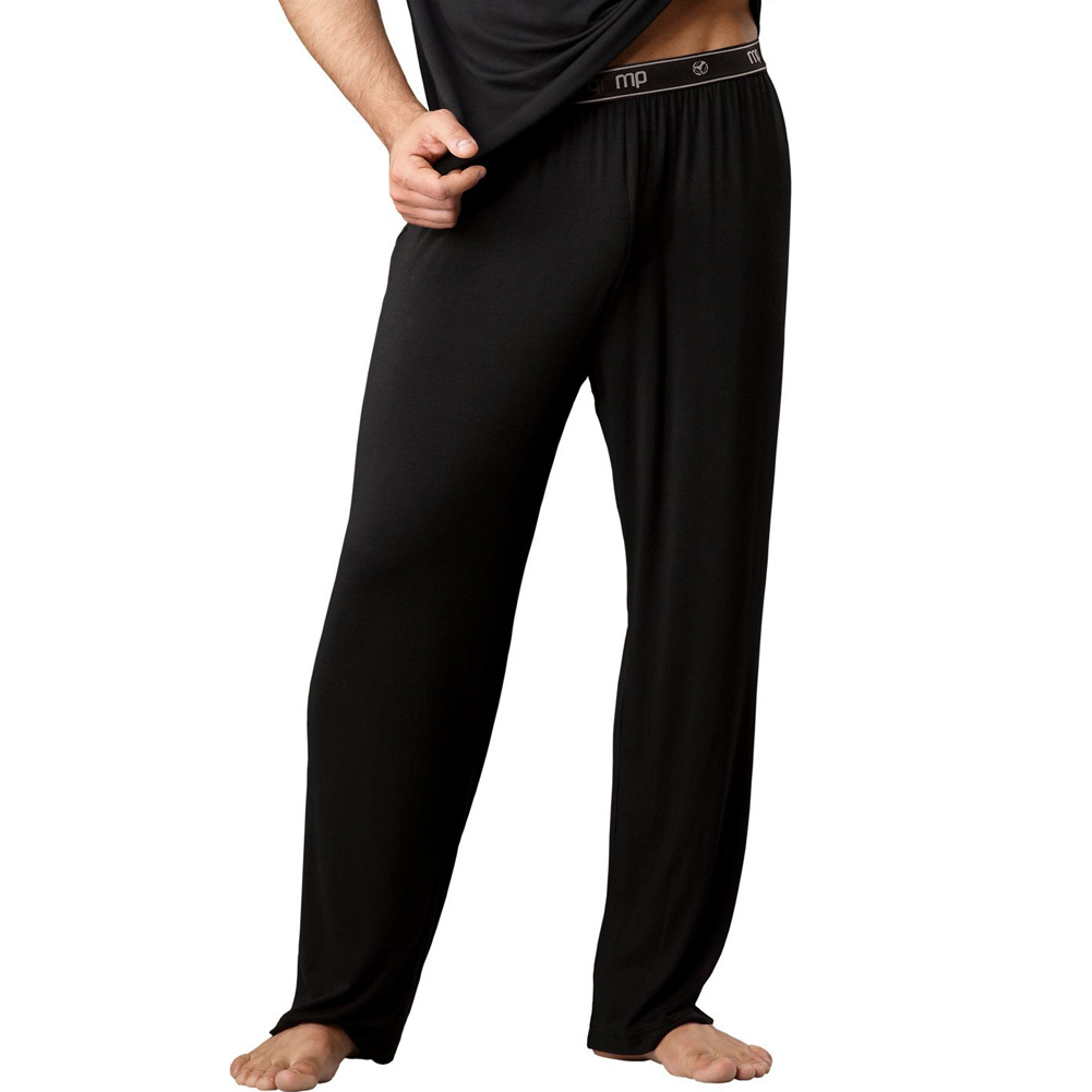 Male Power Bamboo Lounge Pants Medium Black - View #1