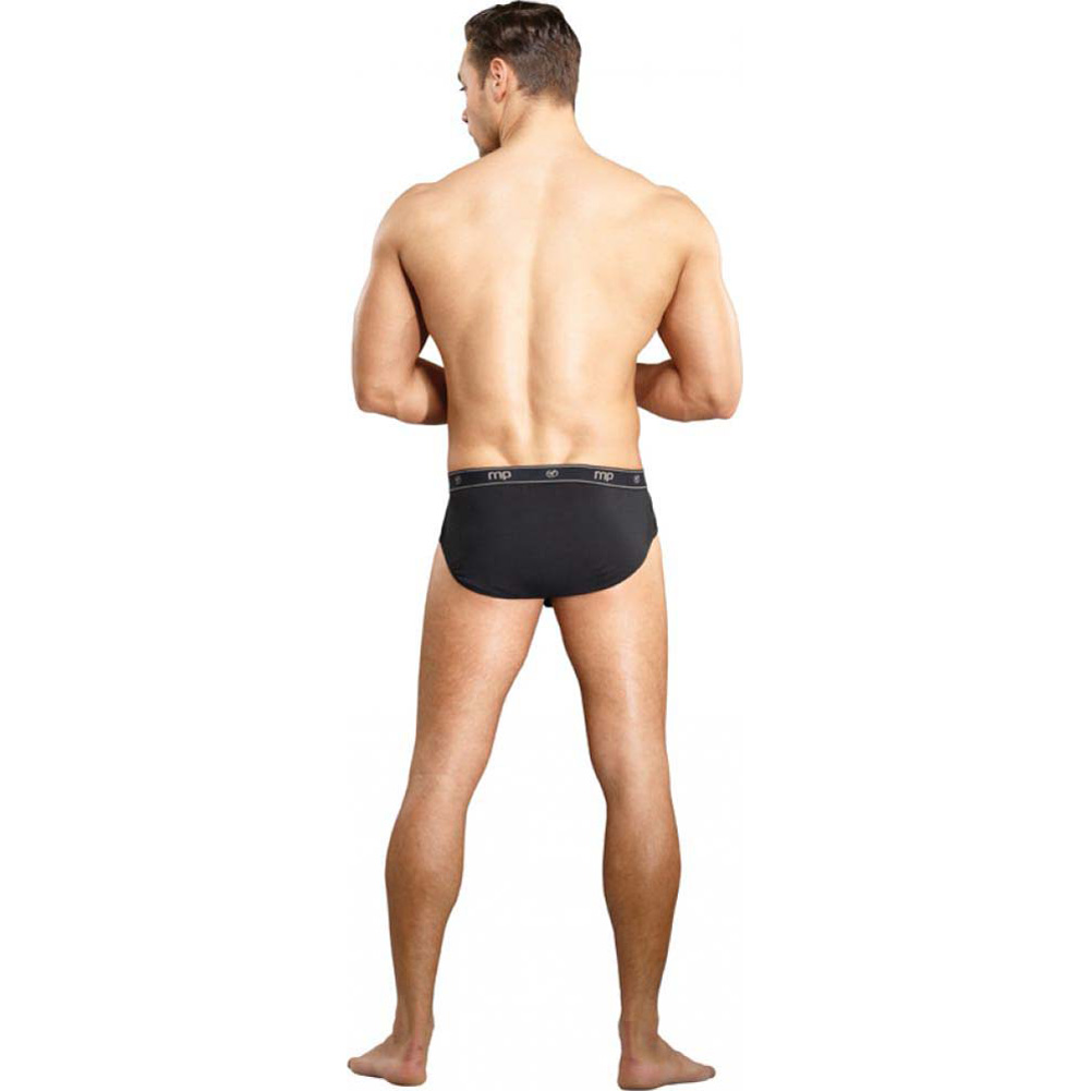 Male Power Bamboo Thruster Bikin Briefs Large Black - View #2