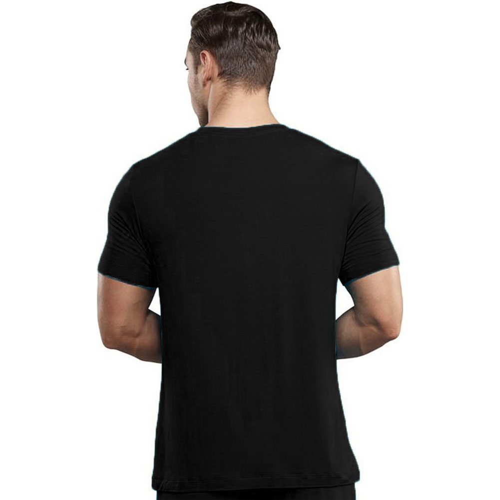Male Power Premiere Bamboo Tee Shirt Small Black - View #2