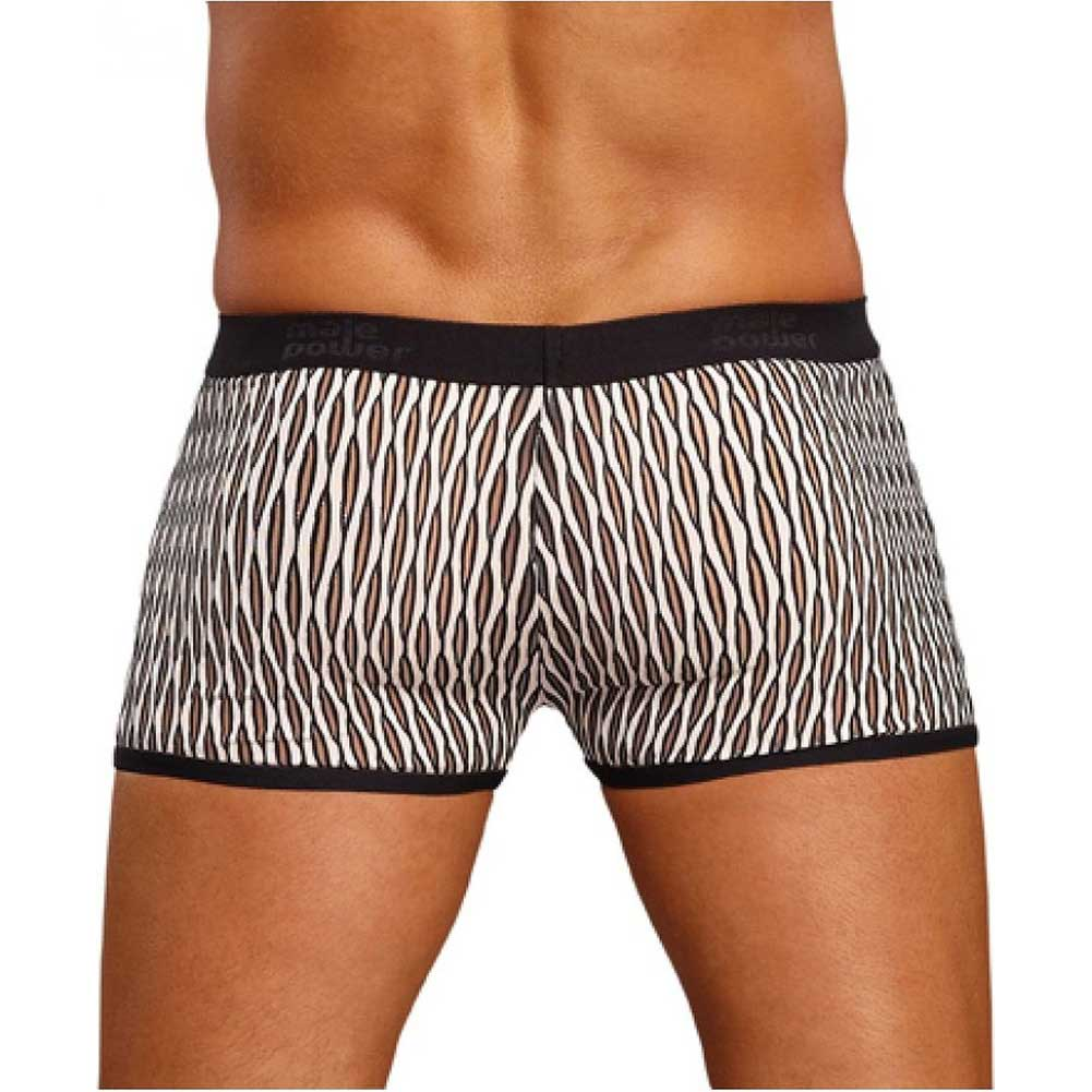 Male Power Wave Mini Pouch Short Large White and Black - View #2