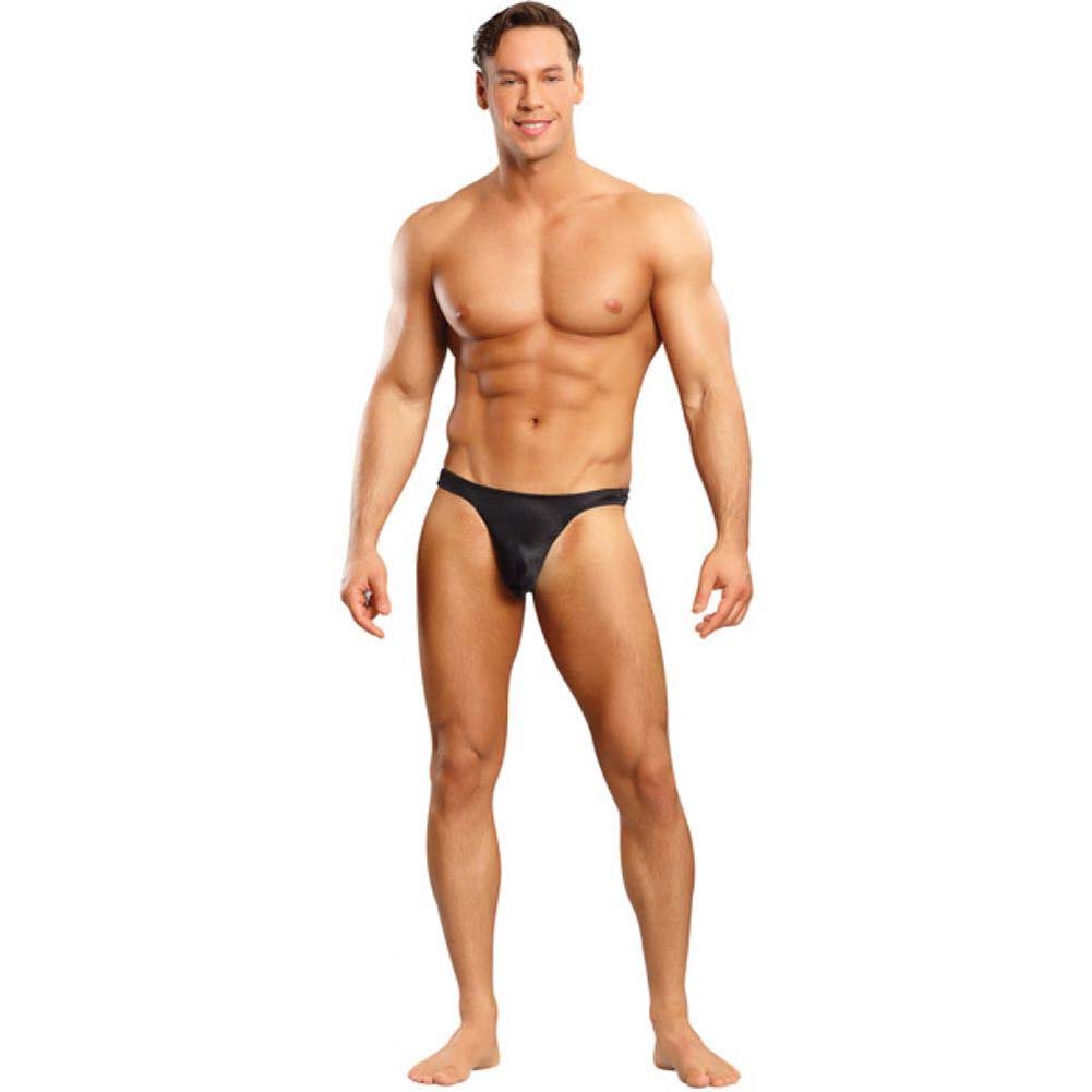 Bong Thong Satin Lycra Black Small Medium - View #3
