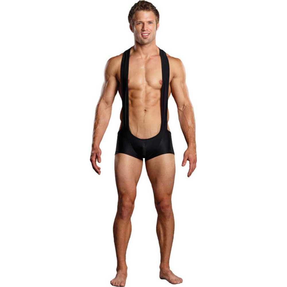 Male Power Edgy Sling Shorts Small/Medium Black - View #3