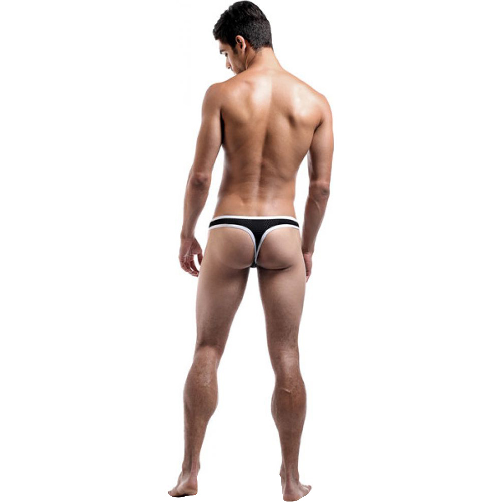 Male Power Fly Away Breathable Snap Thong Small/Medium Black - View #4