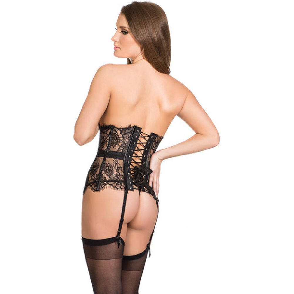 Coquette Darque Lace Waist Cincher Small Black - View #1