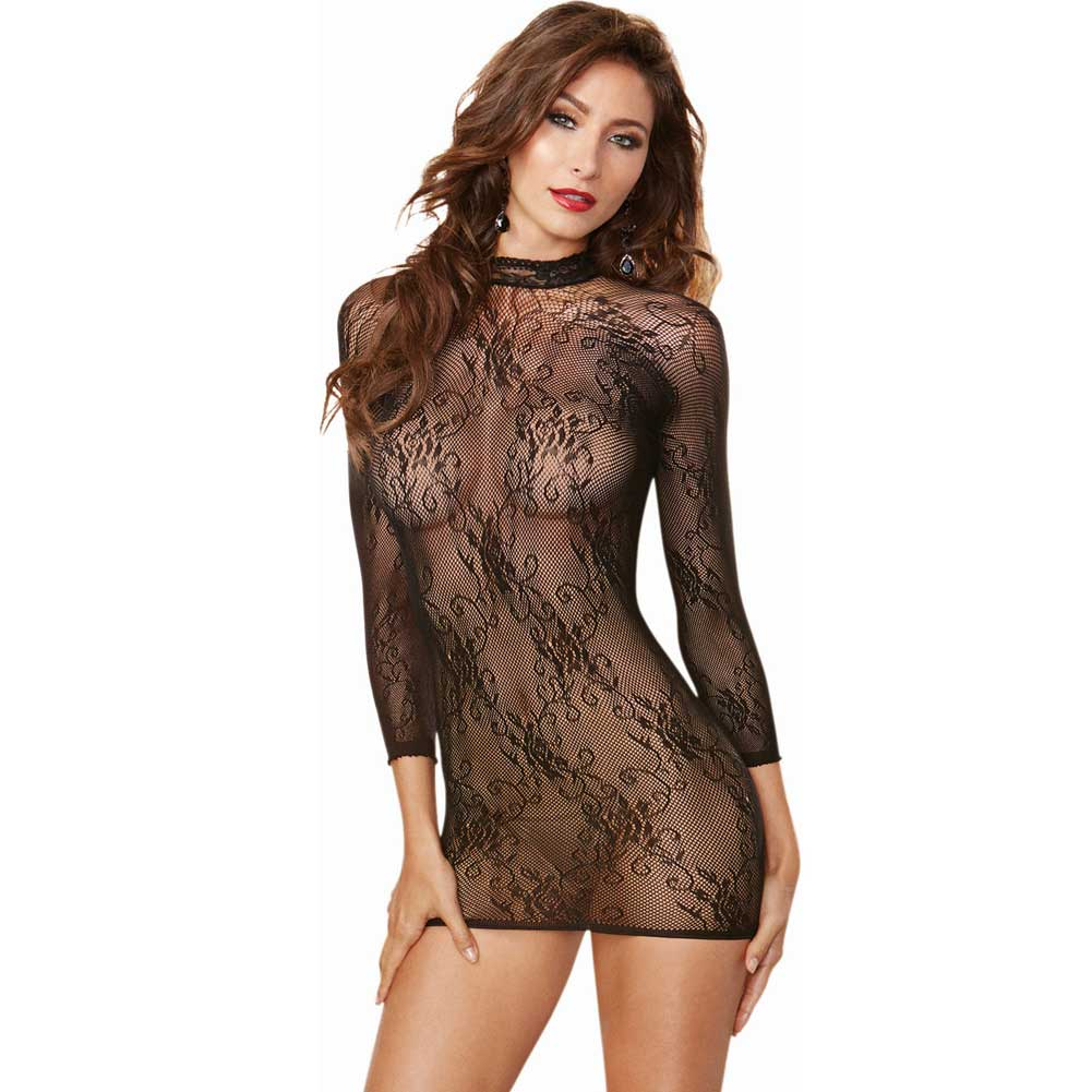 Stretch Lace 3/4 Length Sleeves Snap Closure and Open Back with Adjustable Lace.. - View #2