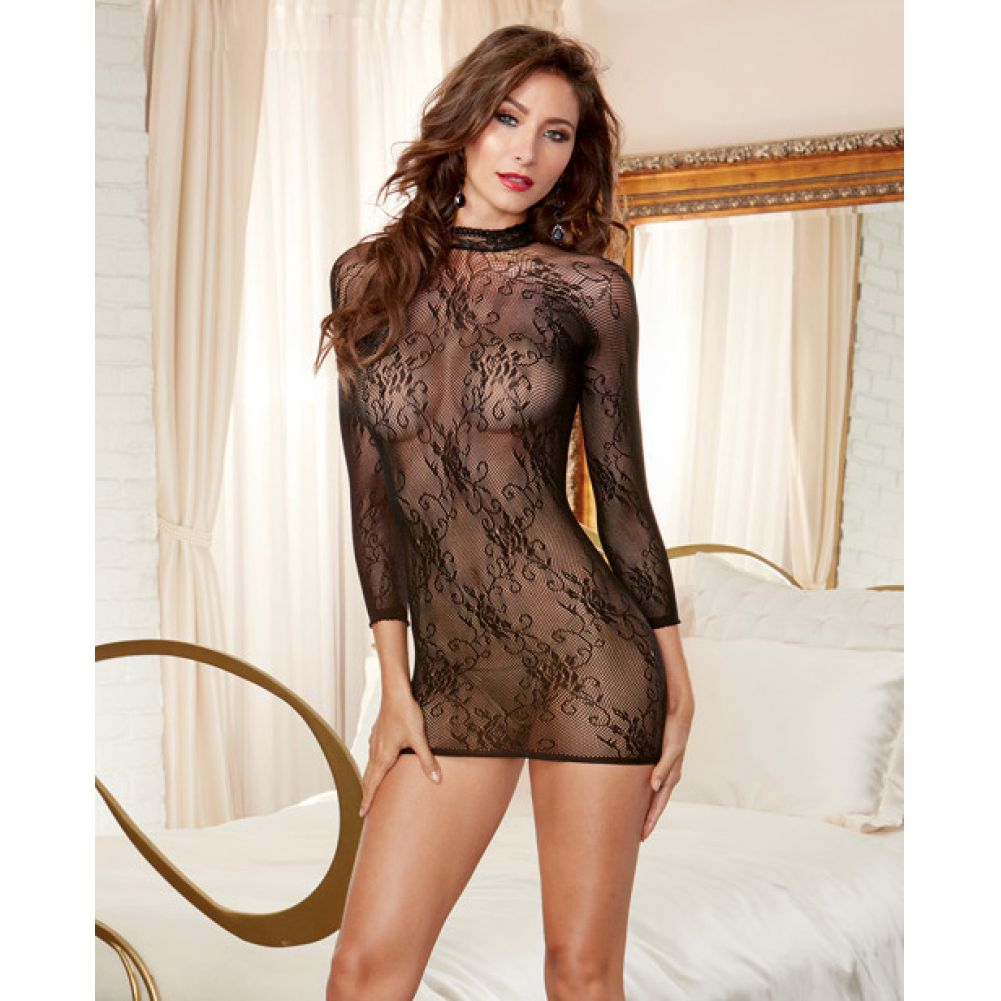 Stretch Lace 3/4 Length Sleeves Snap Closure and Open Back with Adjustable Lace.. - View #4