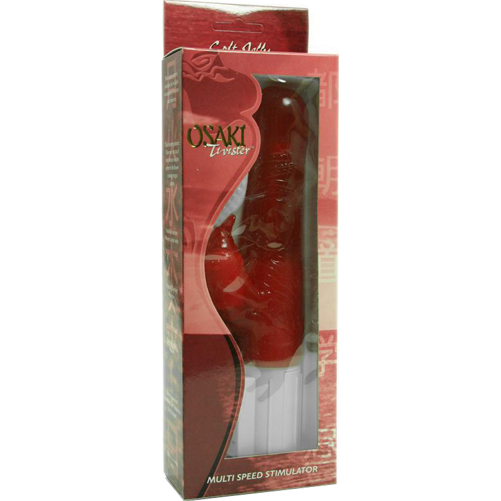 "Golden Triangle Osaki Twister Vibrator 9"" Red - View #1"