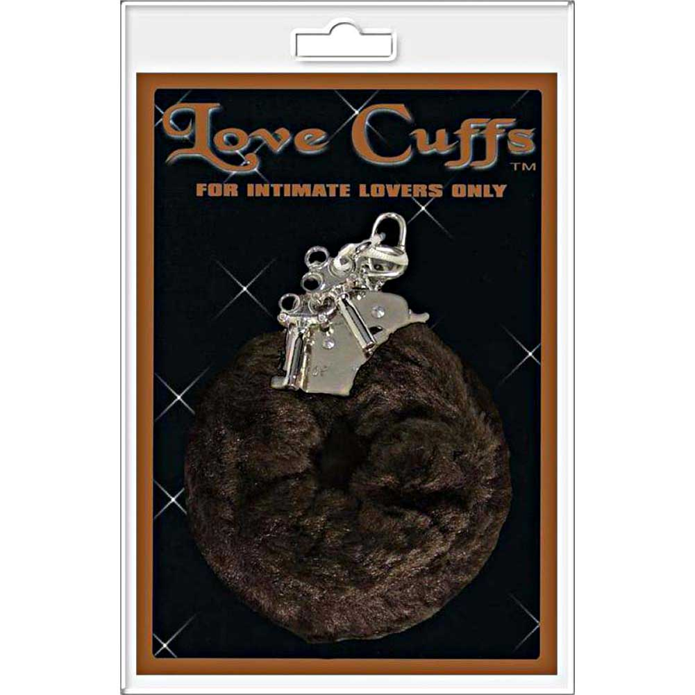 Golden Triangle Plush Love Cuffs Brown - View #1