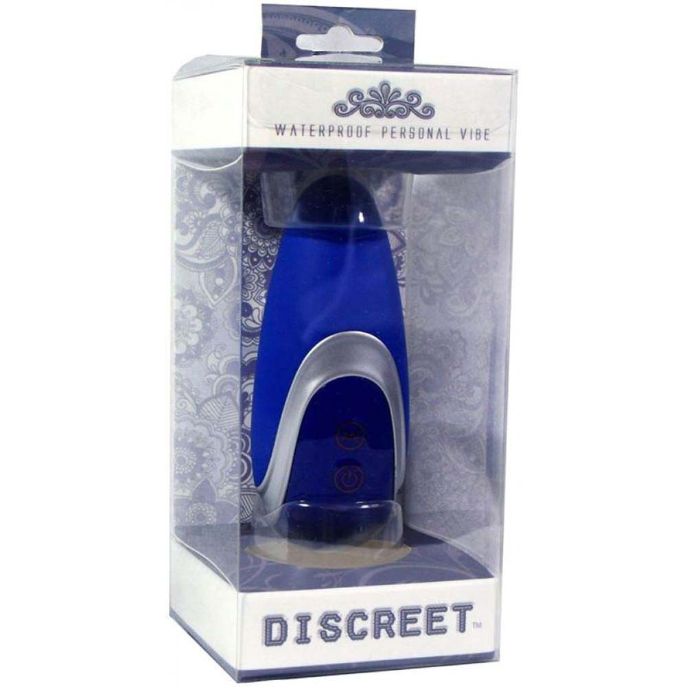 "Golden Triangle Discreet Silicone Waterproof Massager 4"" Blue - View #3"