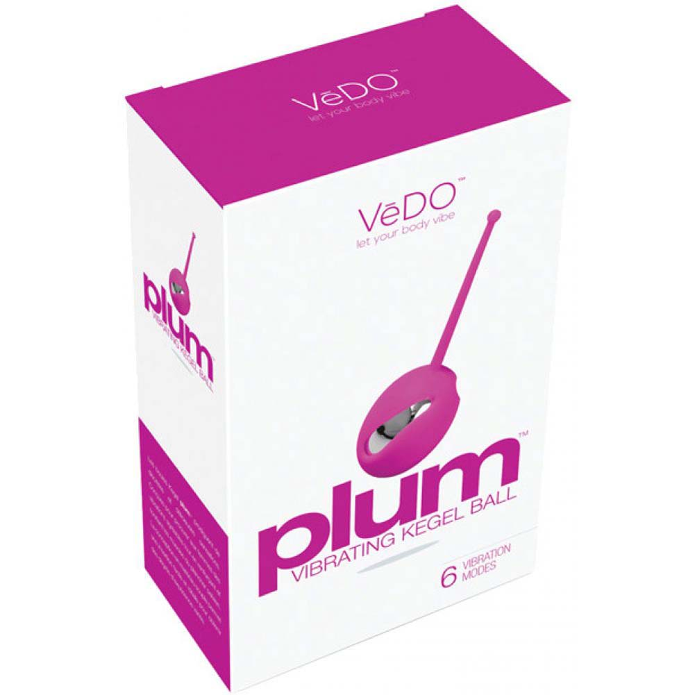 Vedo Plum Vibrating Kegel Ball Hot in Bed Pink - View #4