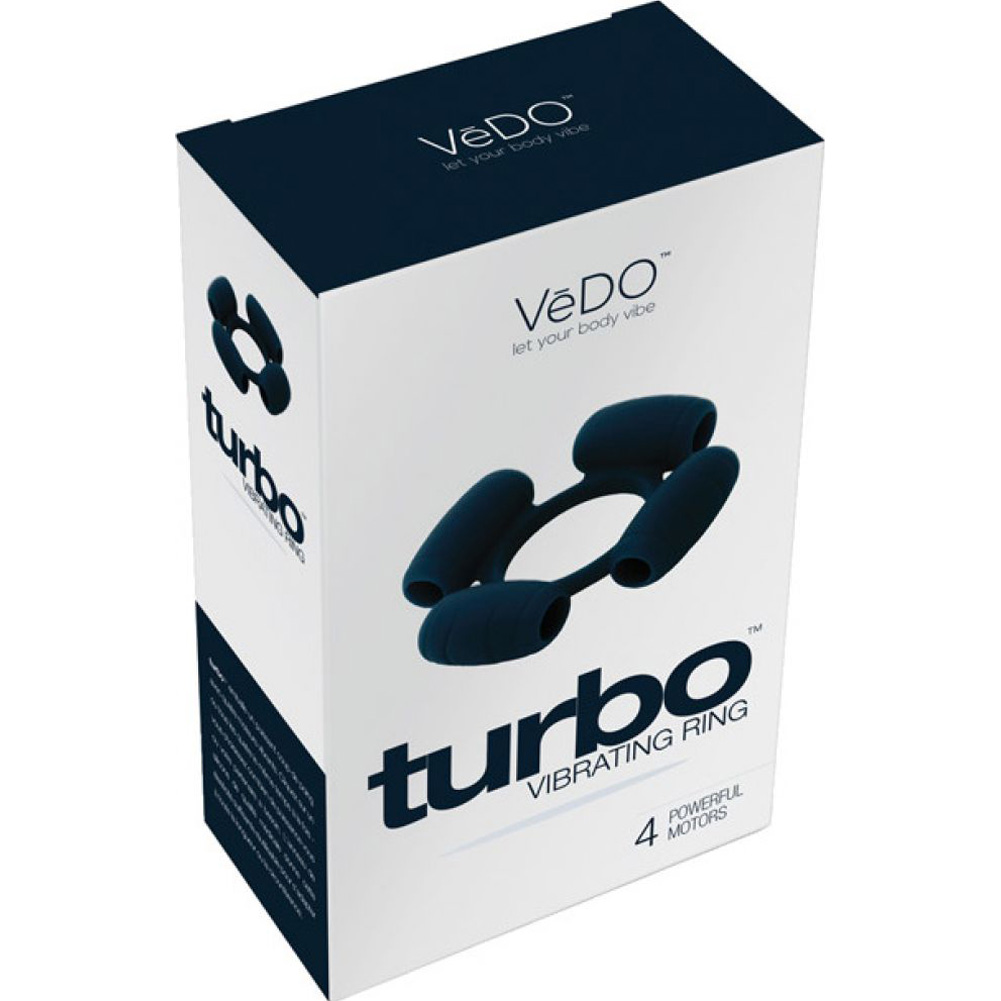 Vedo Turbo Vibrating Ring Just Black - View #4