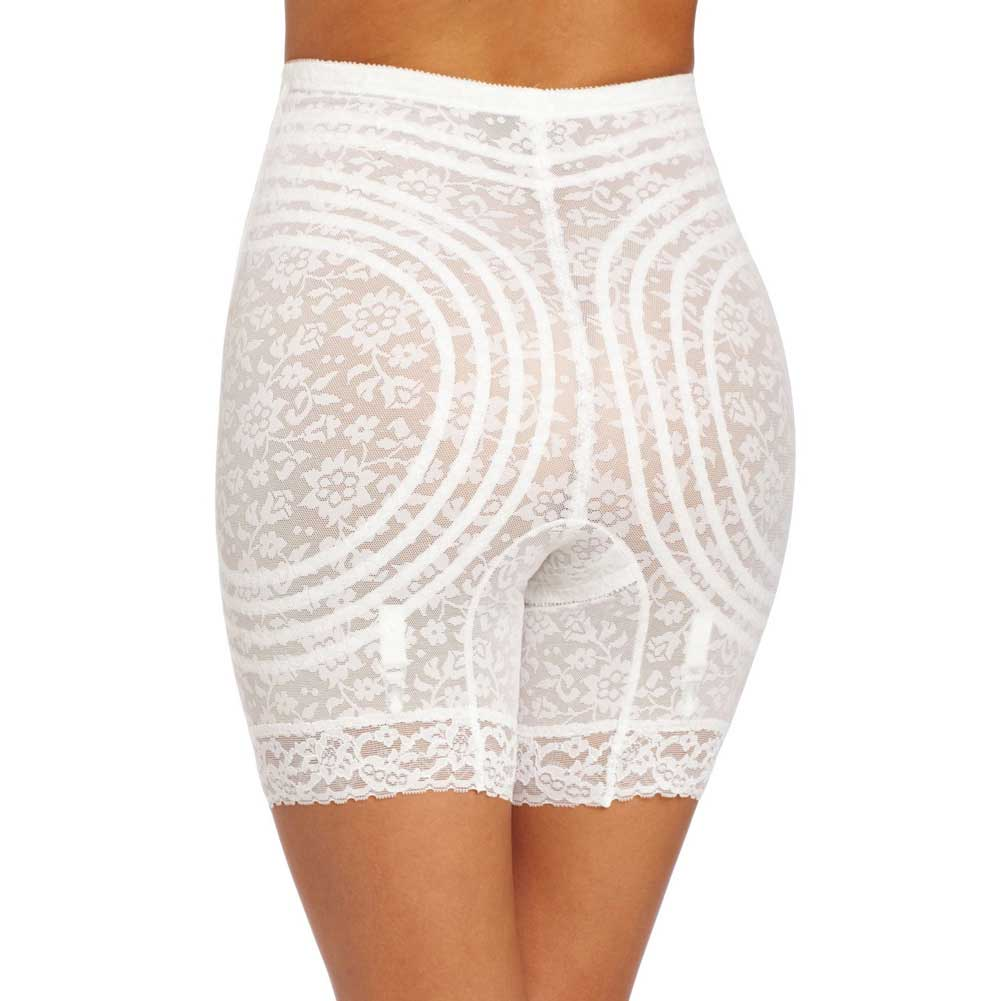 Rago Shapewear High Waist Long Leg Shaper White 4X - View #2