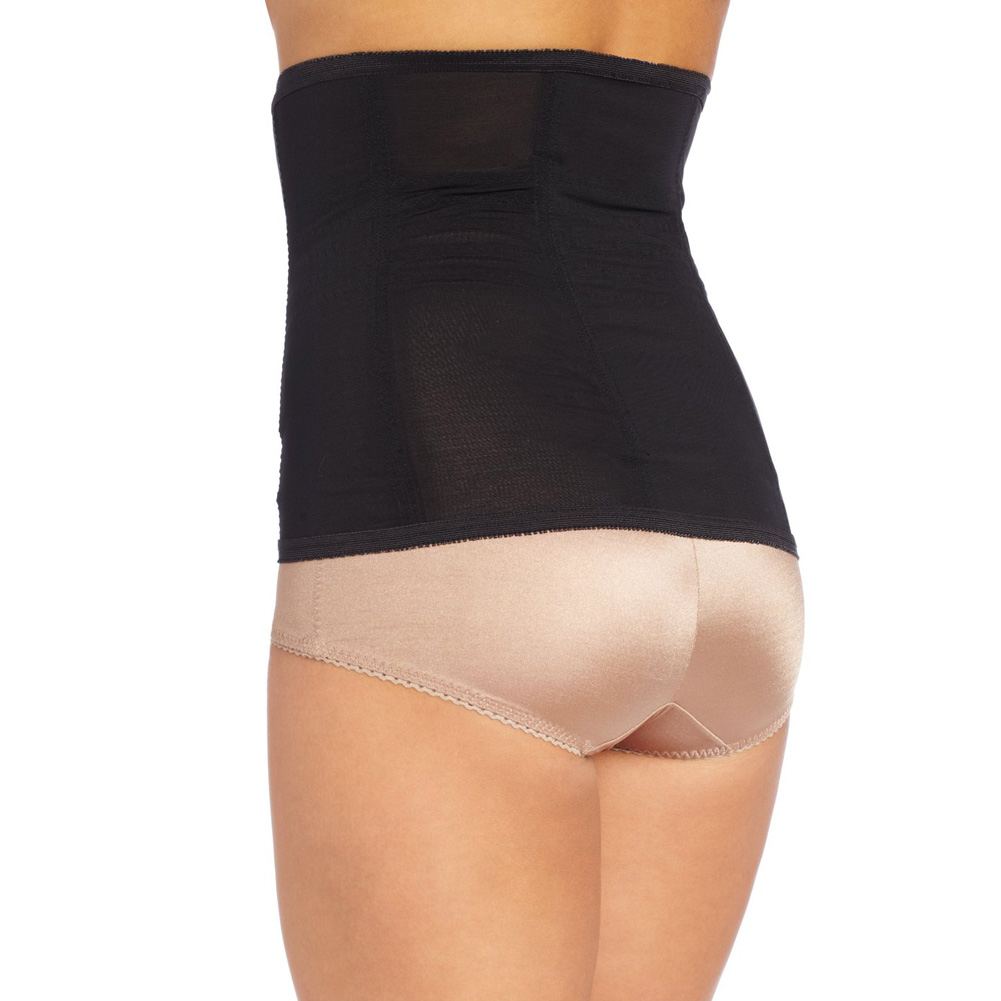 Rago Shapewear High Waisted Waist Cincher Black 6x - View #2
