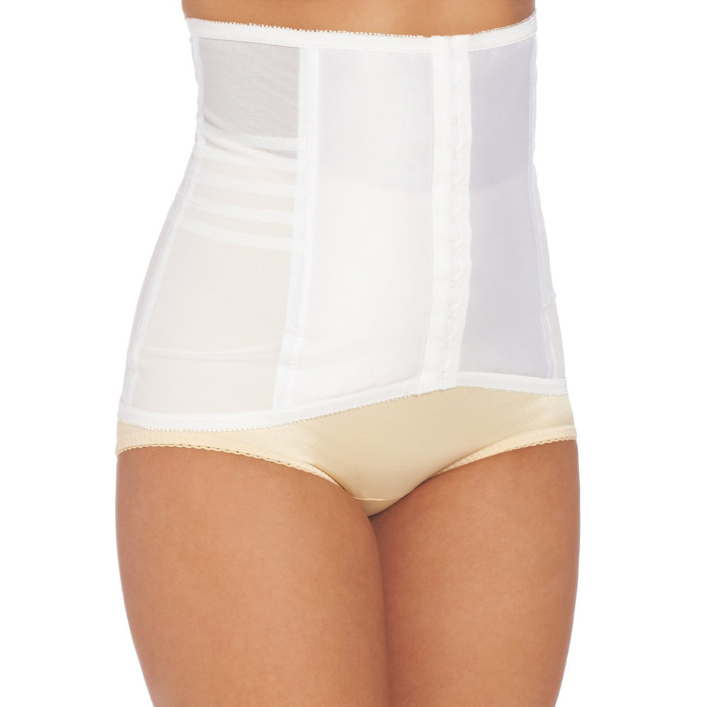 Rago Shapewear High Waisted Waist Cincher White Medium - View #1