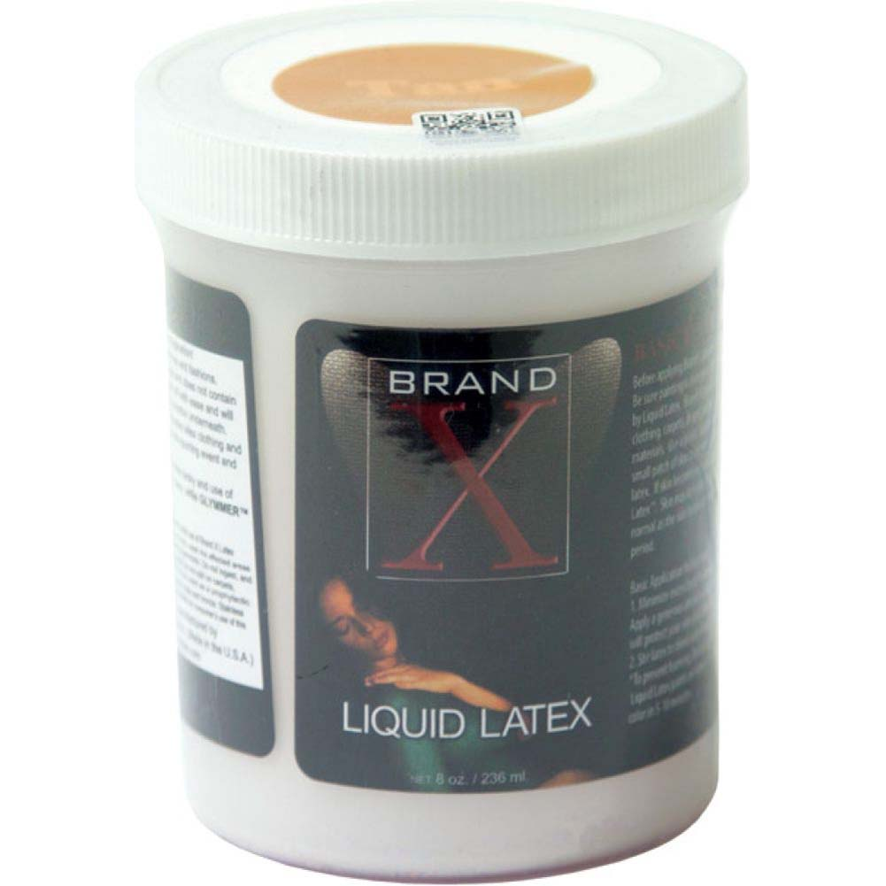 Brand X Liquid Latex Body Paint Tan 8 Fl.Oz - View #1