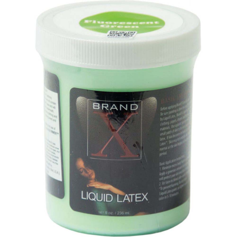 Brand X Liquid Latex Body Paint 8 Fl.Oz Fluorescent Green - View #1