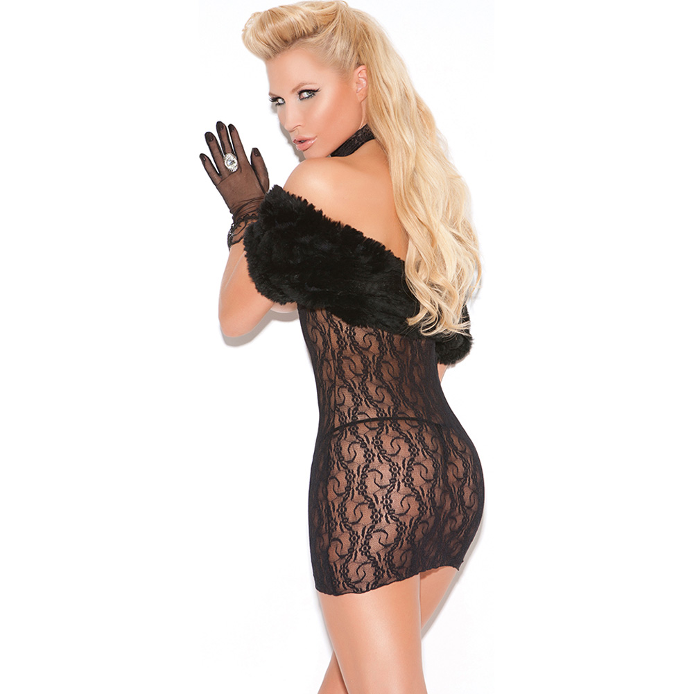 Vivace Cupless Lace Dress Black One Size - View #2