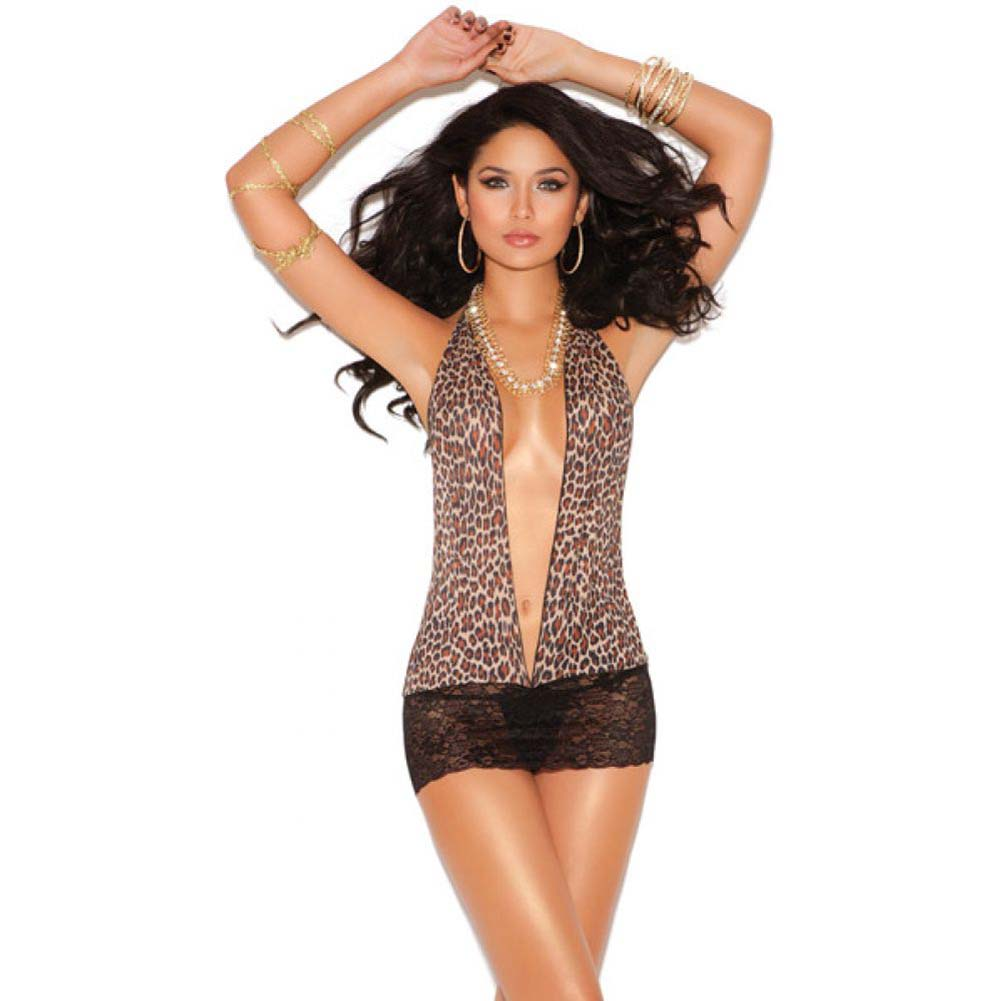 Vivace Mini Dress with Lace Skirt Leopard One Size - View #1