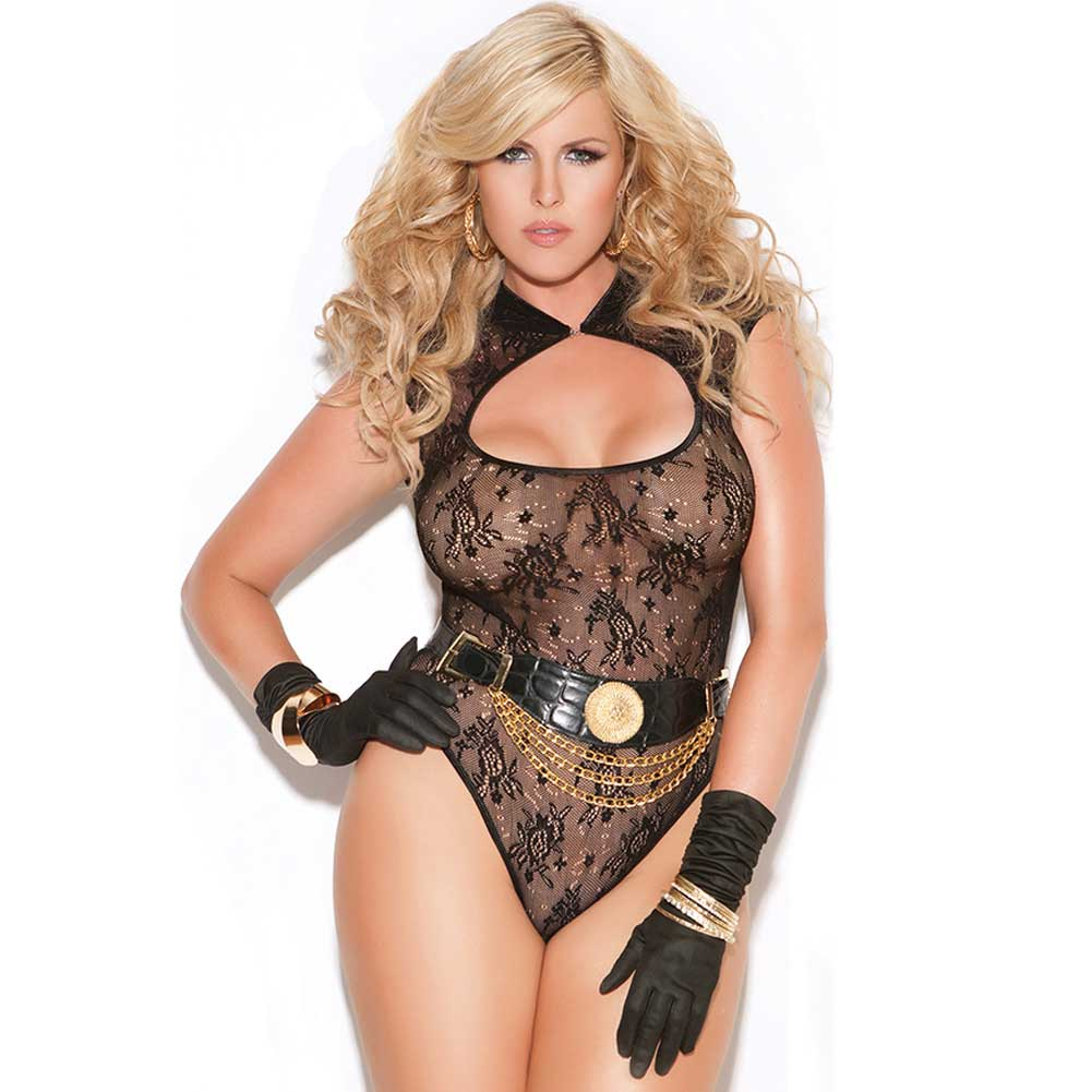 Vivace Lace Teddy Black Queen - View #1