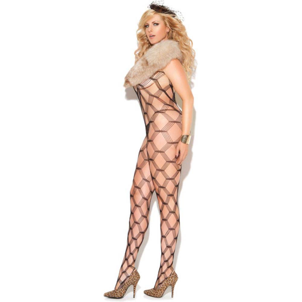 Vivace Diamond Net Bodystocking Black Queen - View #1