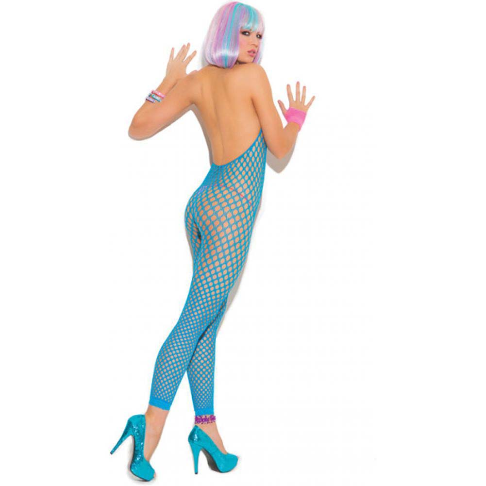 Vivace Crochet Footless Bodystocking Neon Blue One Size - View #2