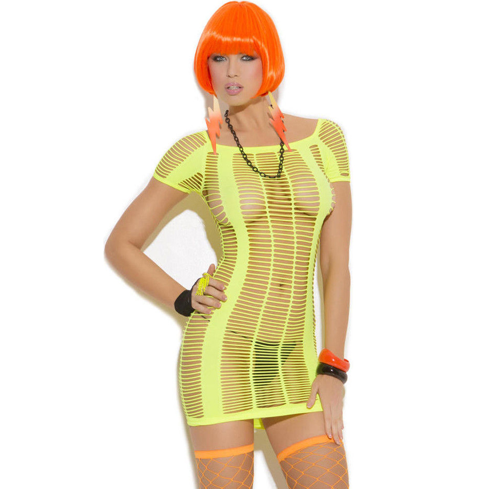 Vivace Strappy Mini Dress Chartreuse Light Green One Size - View #1