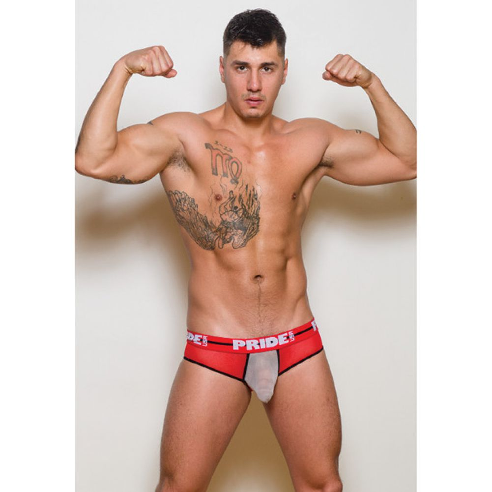 Pride Maui Mesh Brief Red Large - View #2