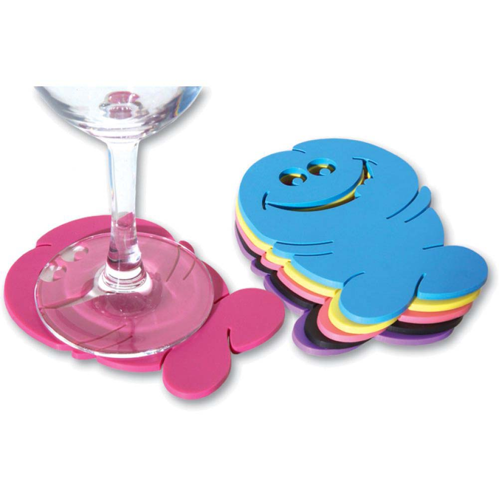 Ozze Bachelorette Pecker Coasters 6 Piece Pack - View #2