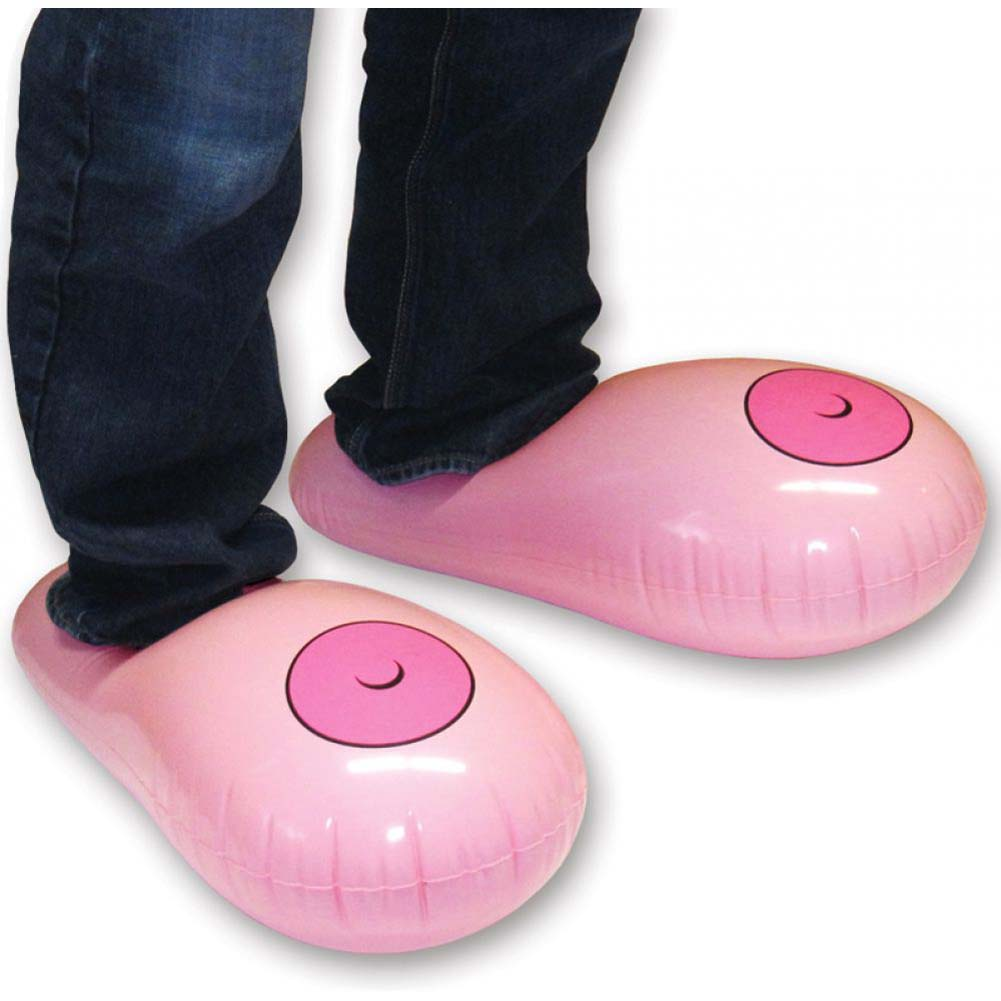 Ozze Inflatable Boobie Slippers - View #1