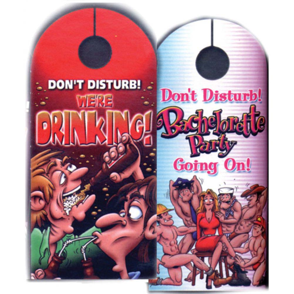 Bachelorette Party Do Not Disturb Door Hanger - View #1
