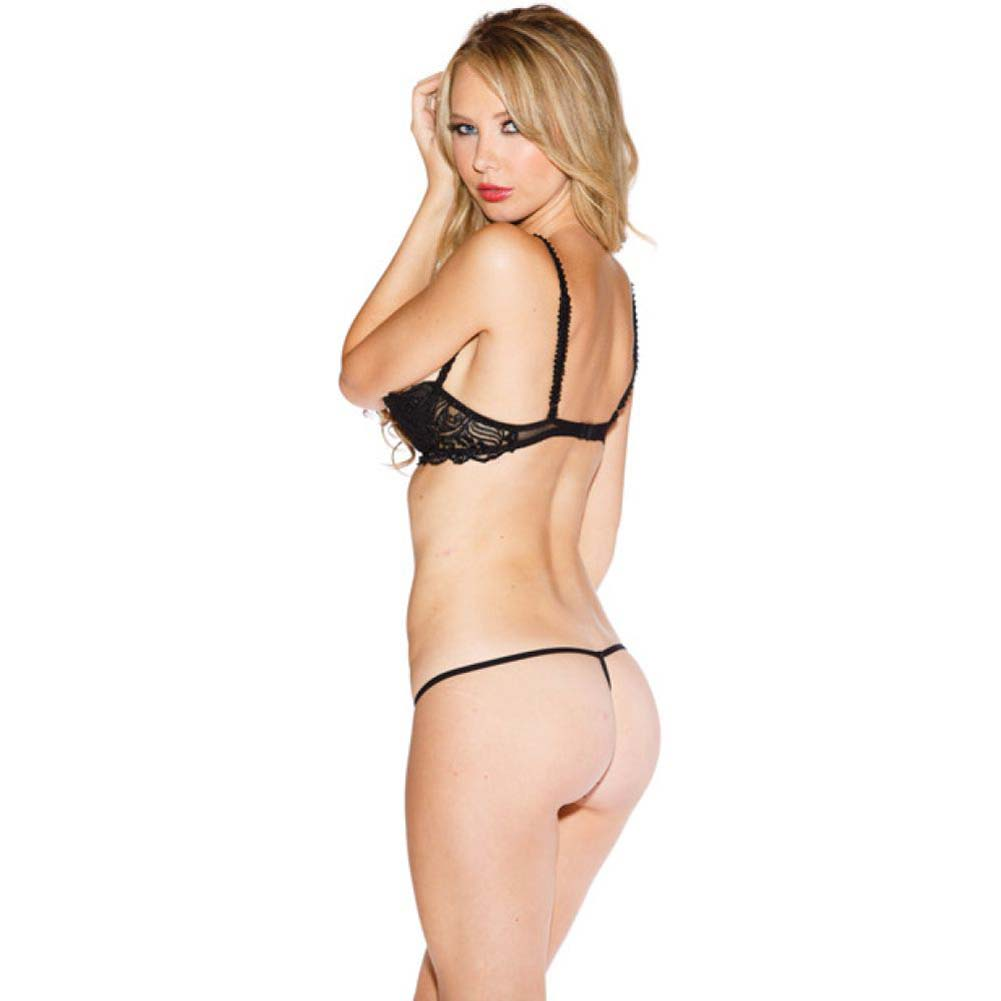 Chopper Bar Shelf Bra with Uplifting Cleavage Adjustable Straps and Back Black 36 - View #2