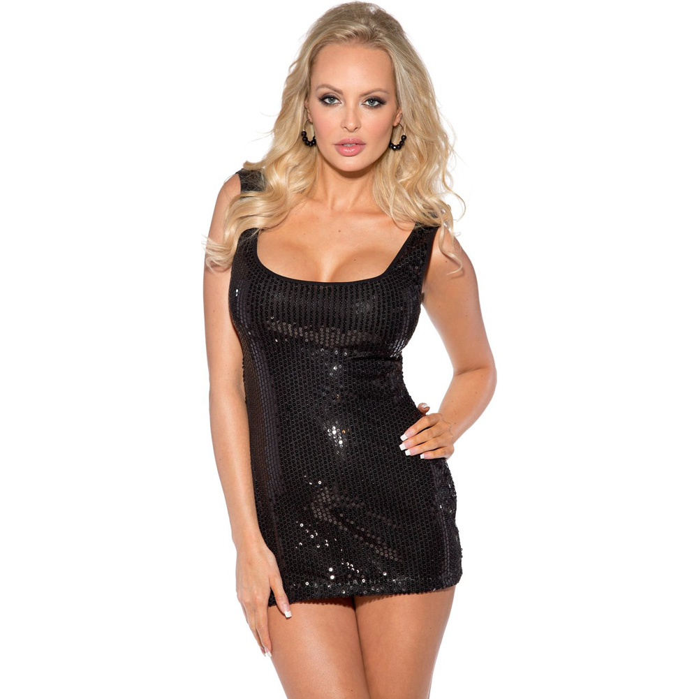 Sequin Dress Black Extra Large - View #1