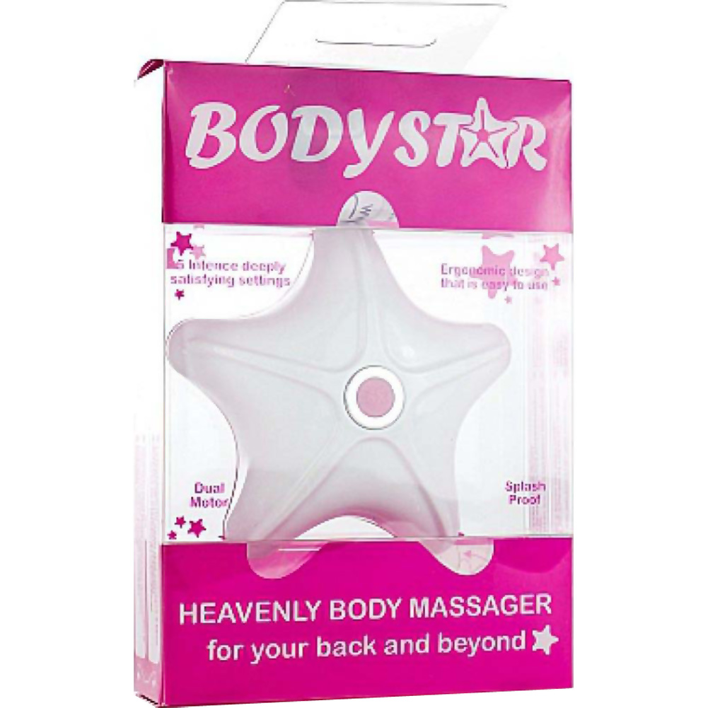 Rocks Off Body Star Massager Pink/White - View #3