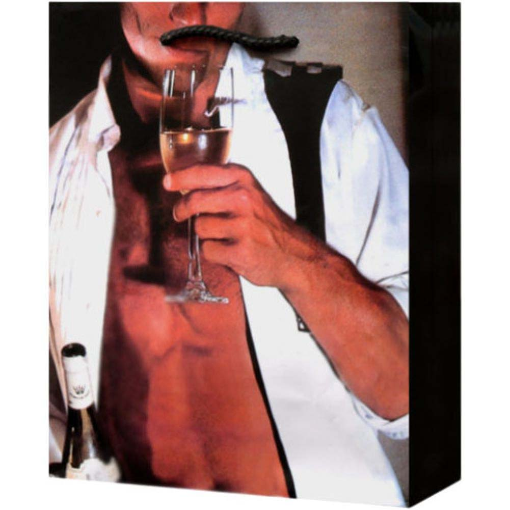 Man in Unbuttoned Tux Drinking Champagne Gift Bag - View #2