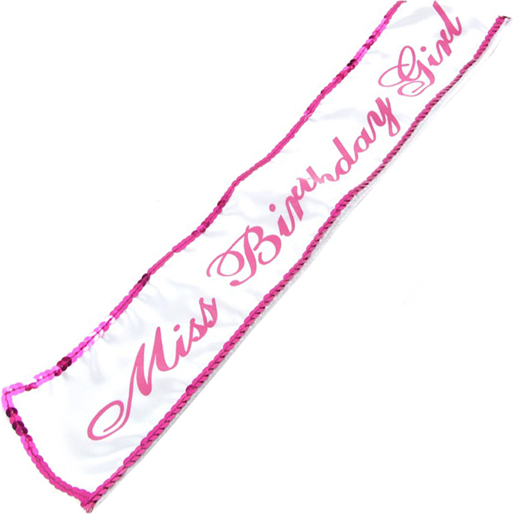 Little Genie Productions Miss Birthday Girl Sash - View #2