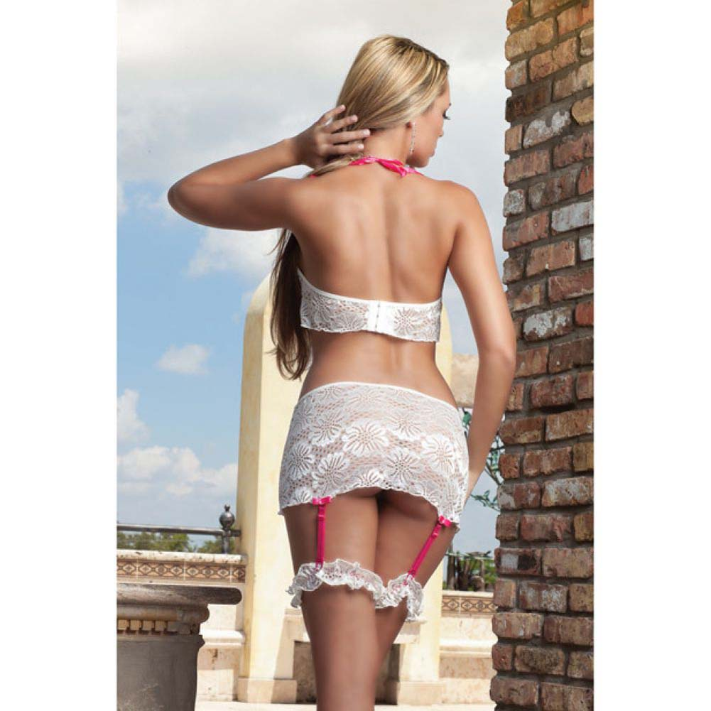 Boyfriend Skirt Set with Garters White One Size - View #2