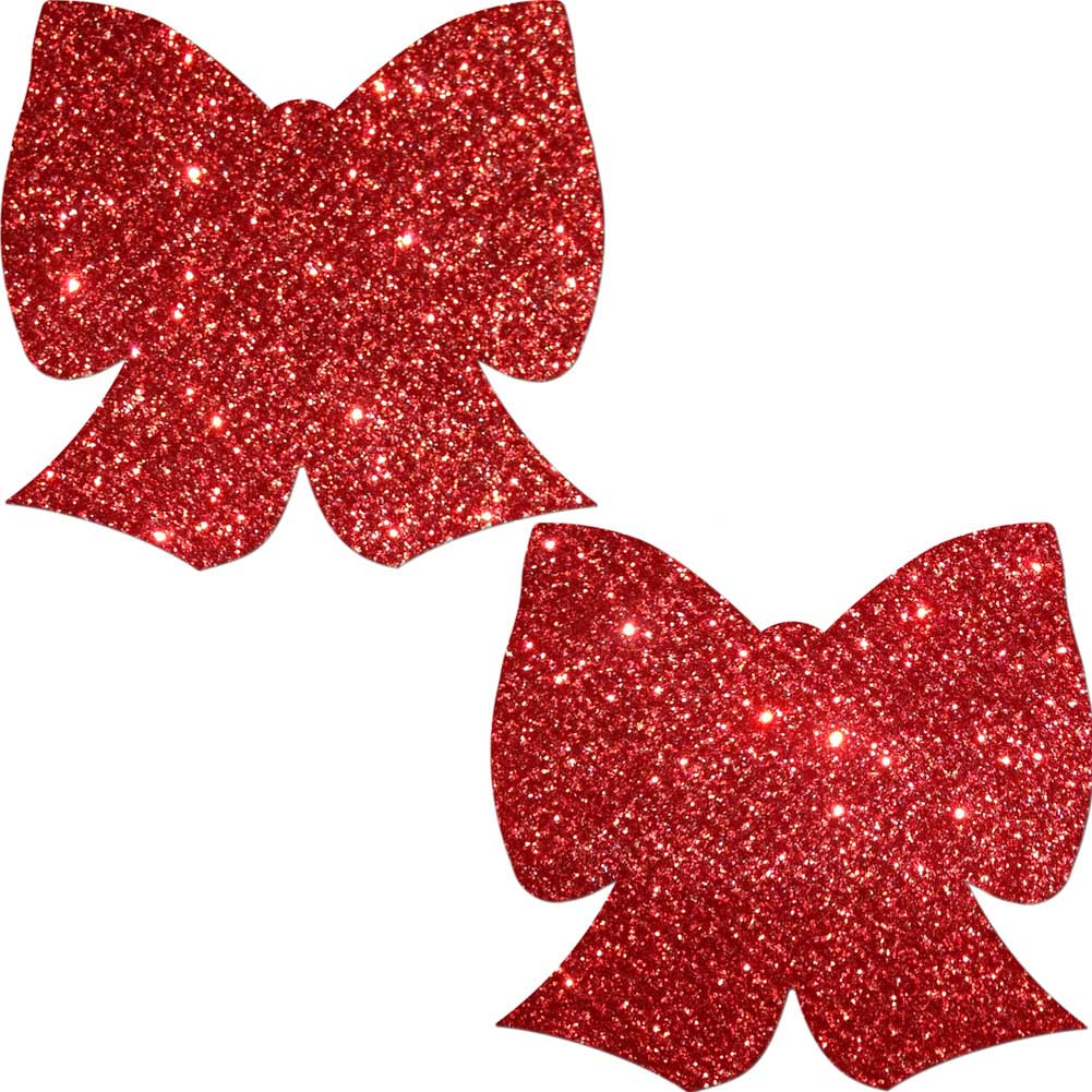 Pastease Red Glitter Bow One Size - View #2