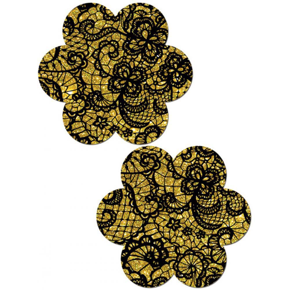Tease Gold Lace Print Flower One Size - View #1