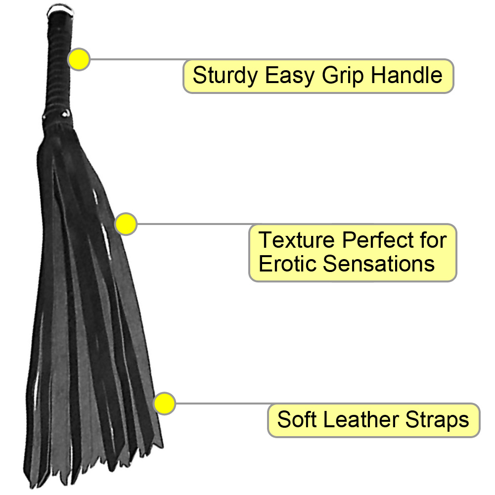 "Touch of Fur Classic Cat Flogger 24"" Black - View #1"