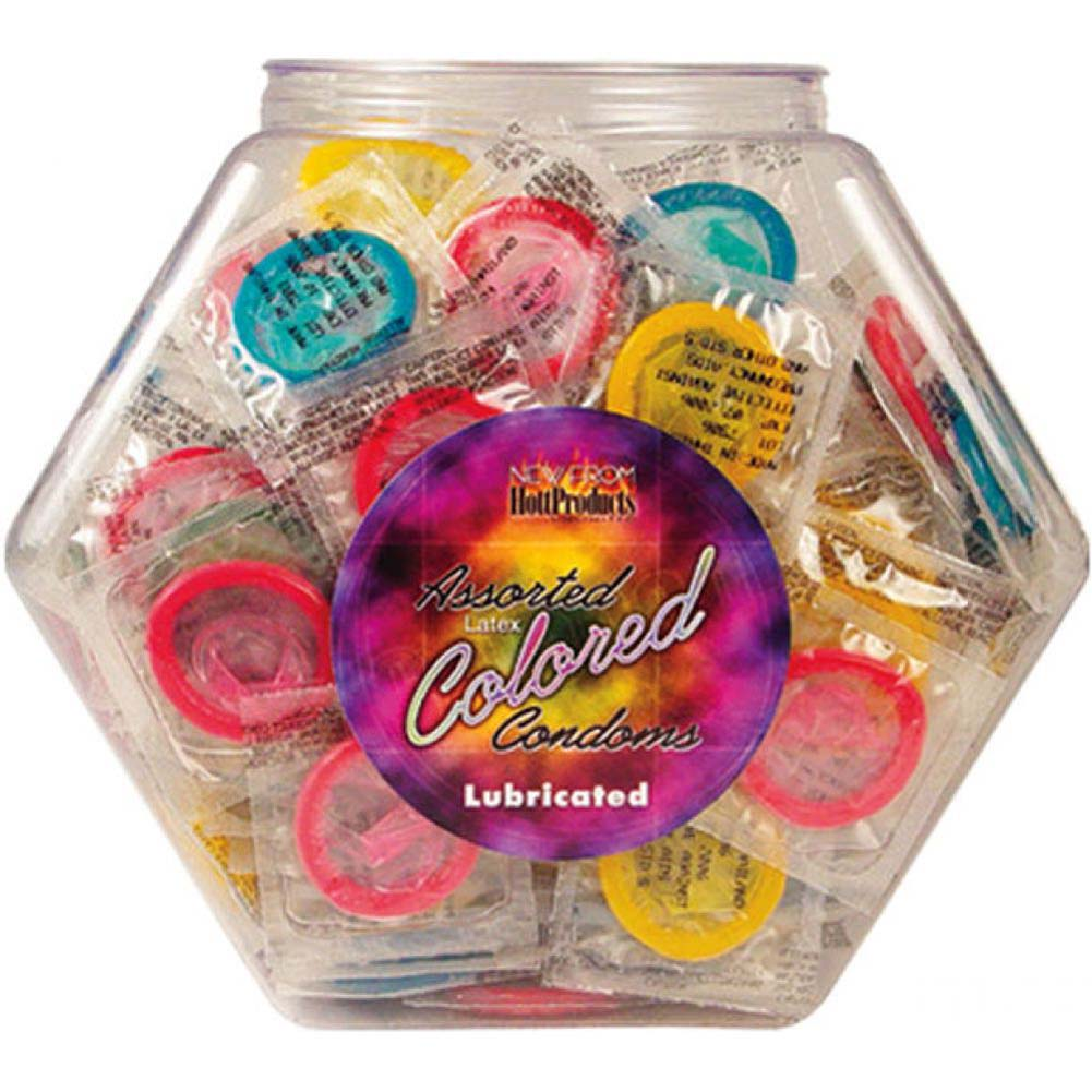 Hott Products Assorted Colored Condoms 144 Piece Bowl - View #1