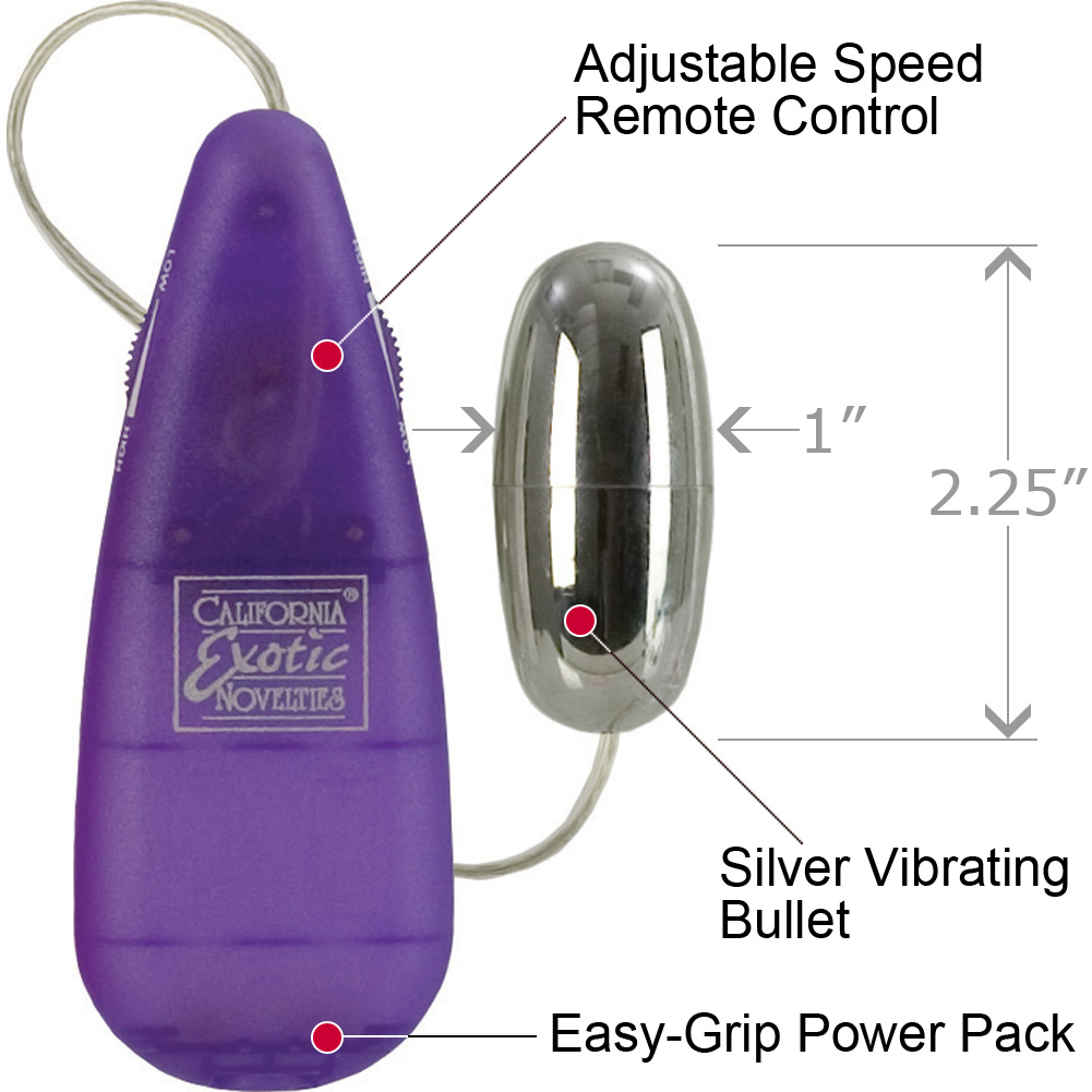 California Exotics Bullet Vibrator Purple Bulk - View #1