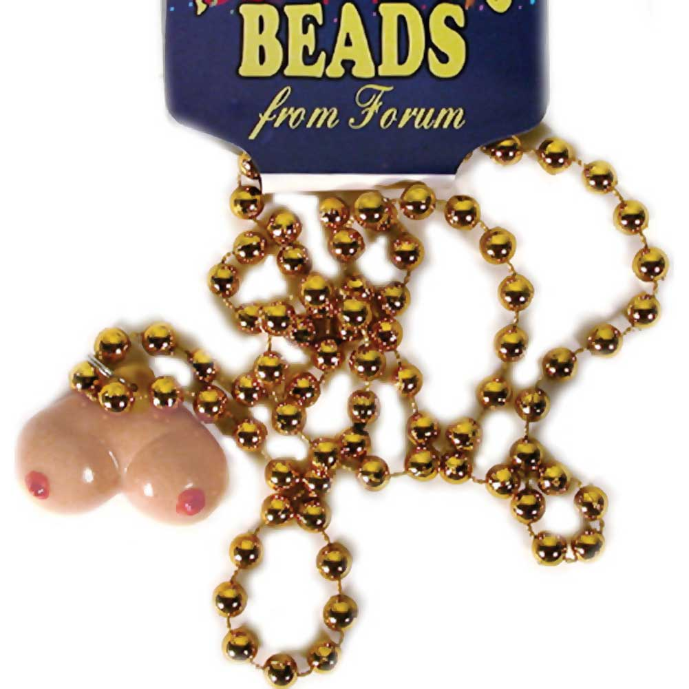 Forum Novelties Mardi Gras Necklace with Boob Beads - View #1