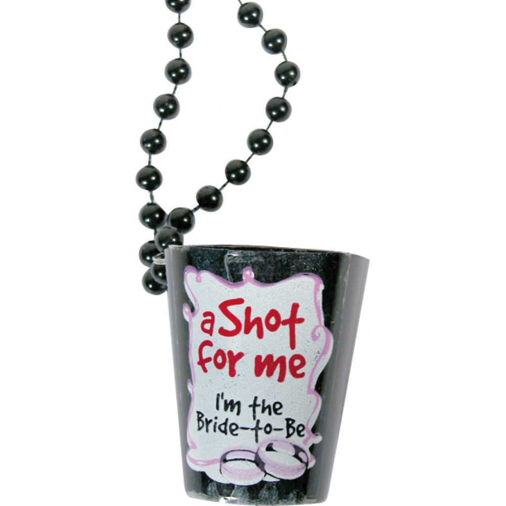 Bachelorette Shotglass Necklace Black - View #1