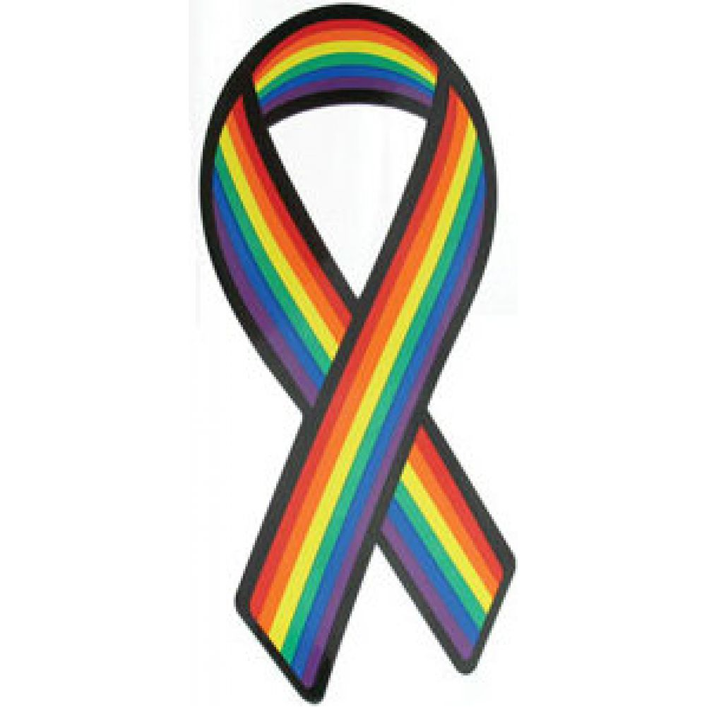 Gaysentials Pride Ribbon Magnet Blank - View #1