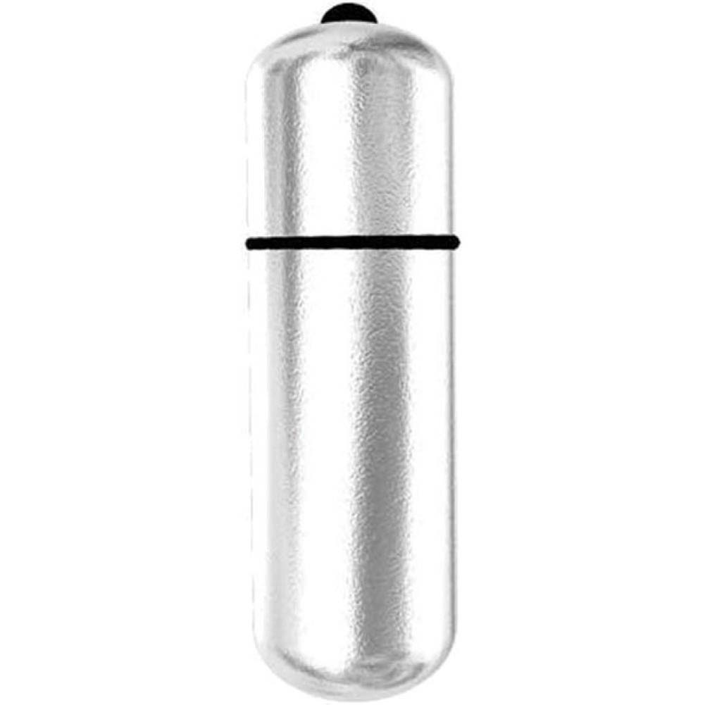 "BMS Factory Power Bullet Vibrator 2.25"" Silver Bulk - View #1"