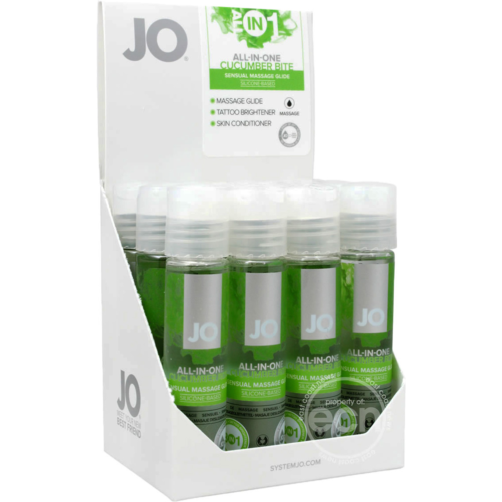 System JO Massage Cucumber 1 Oz 12 Piece Display - View #2