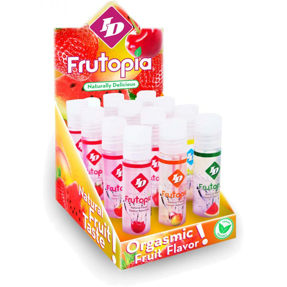 ID Lubes Frutopia Flavored Personal Lubes 1 Fl.Oz 30 mL Assorted Flavors 12 Piece Display - View #1