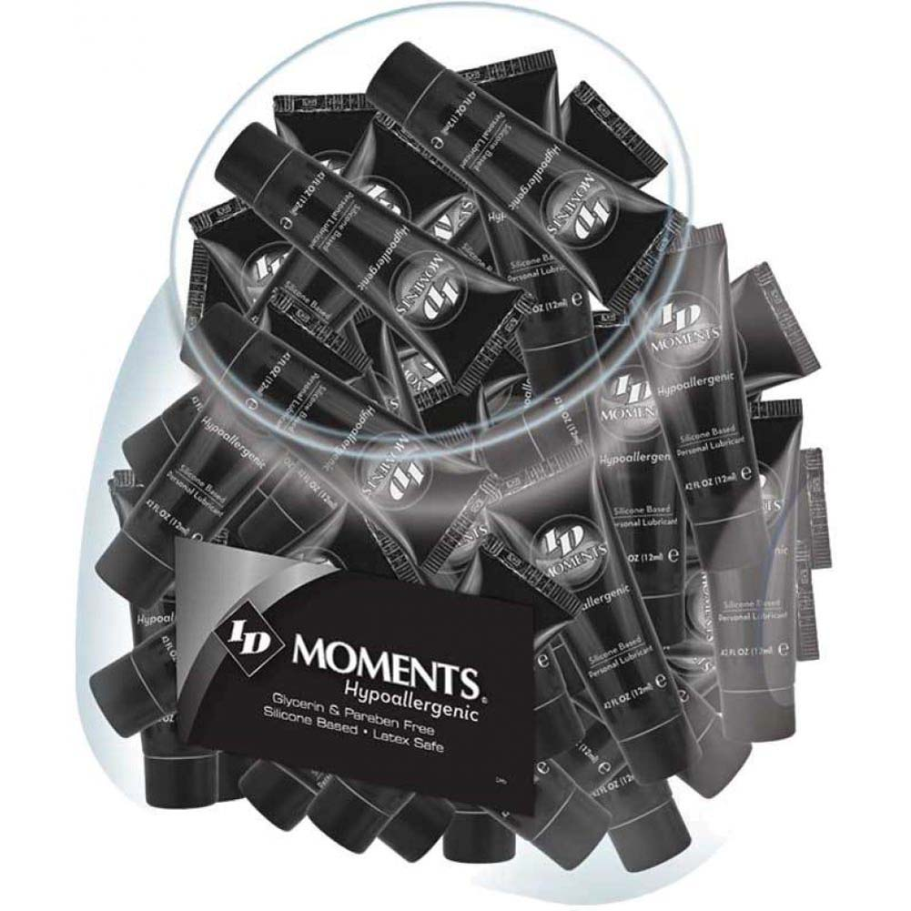 ID Lubes Moments Hypoallergenic Silicone Personal Lube 0.42 Fl.Oz 12 mL Tubes 72 Piece Jar - View #1