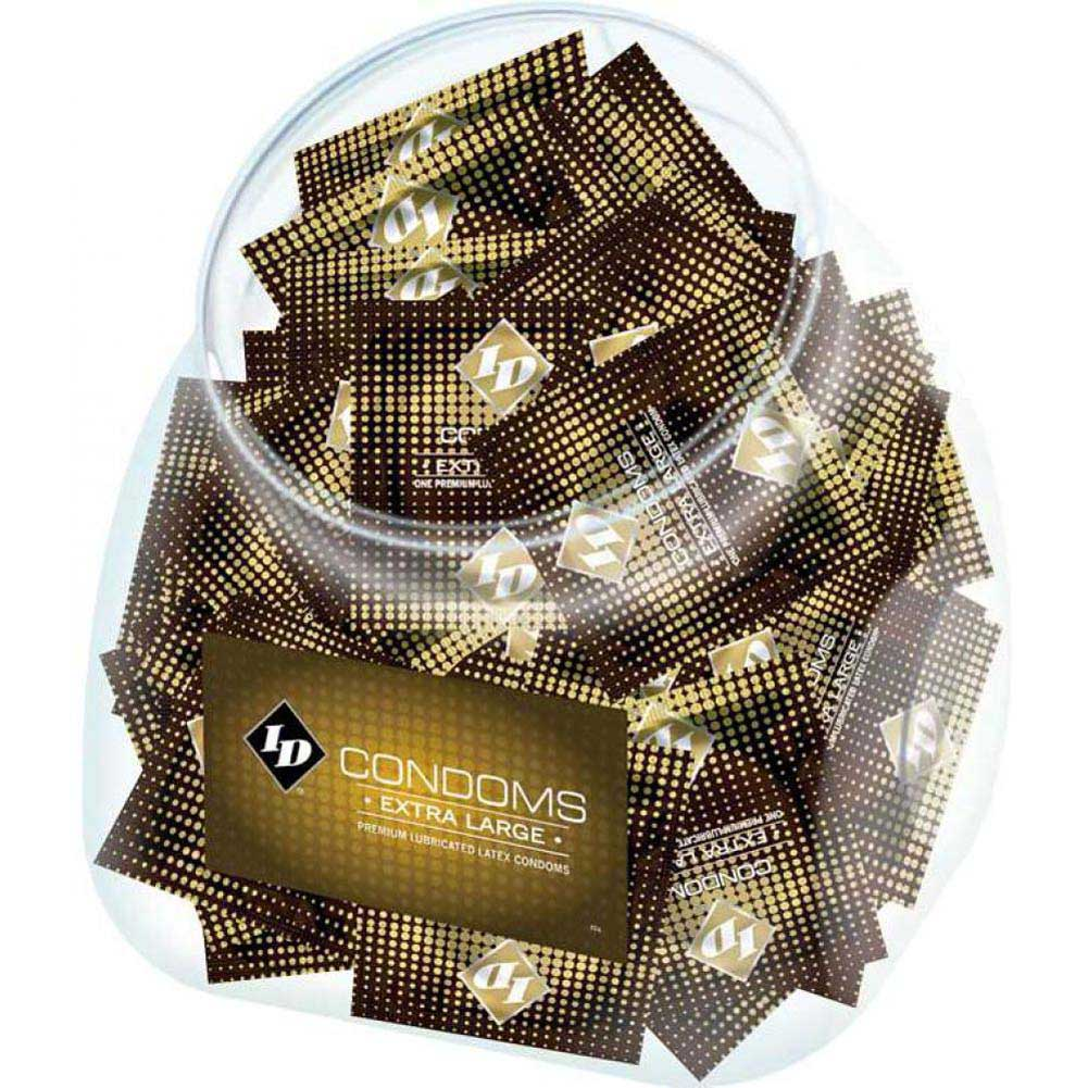 ID Lubricants Extra Large Condoms 144 Piece Display Bowl - View #1