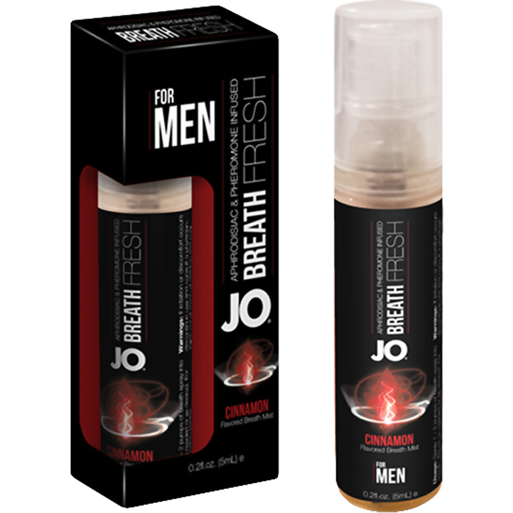 JO for MEN Breath Fresh Mist with Pheromone 0.2 Fl.Oz 5 mL Cinnamon Display of 12 - View #1